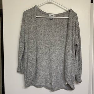 Grey open front old navy cardigan
